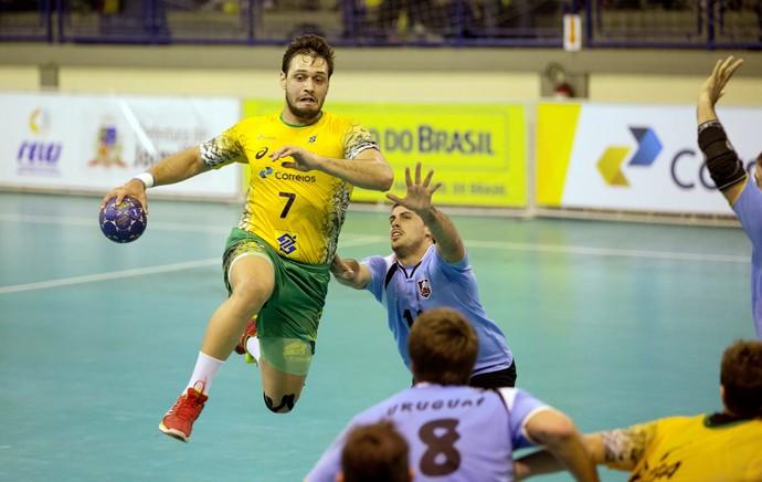 Guilherme Valadão - armador da Seleção Hadball (Foto: Divulgação / Confederação brasileira de Handball)