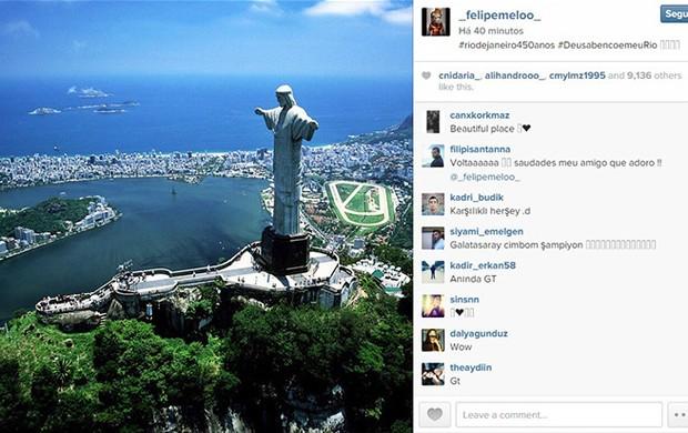 Felipe Mello homenagem ao Rio no Instagram