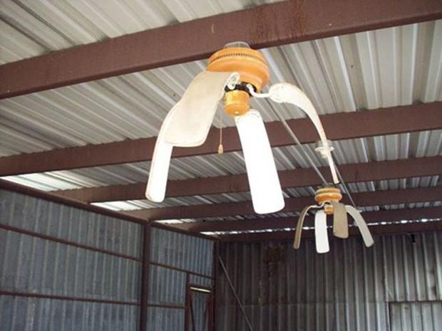 Imagem mostra ventilador 'derretido' por causa do calor (Foto: Reprodução/Facebook)