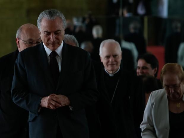 O presidente da República, Michel Temer, nesta segunda-feira (10), no Palácio da Alvorada (Foto: Beto Barata/PR)