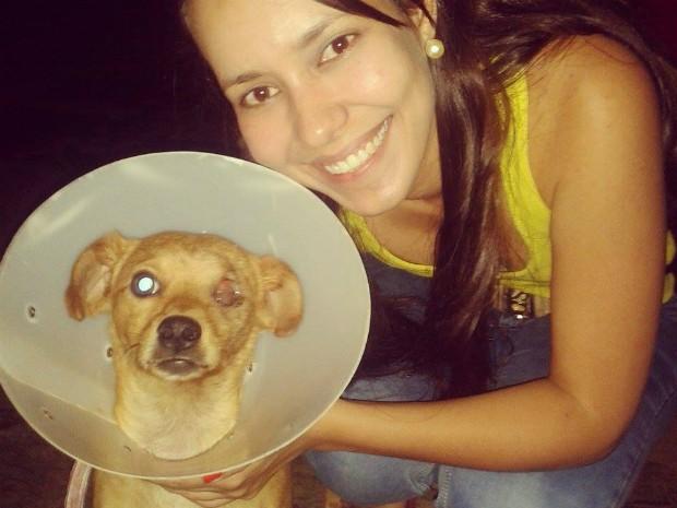 Gracielle achou Zoinho no bairro Vila Sion em Montes Claros. (Foto: Arquivo Pessoal/ Gracielle Moraes)