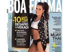 Fernanda Souza mostra barriga retinha em capa de revista