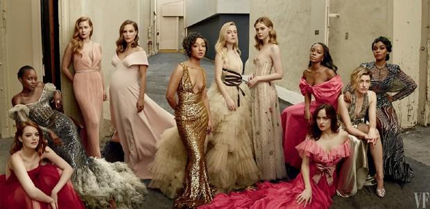 Atrizes posam para a revista Vanity Fair (Foto: Reprodução)