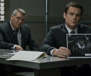 Holt McCallany e Jonathan Groff em 'Mindhunter'   Patrick Harbron/Netflix