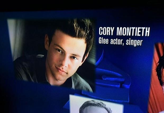 Ops! Nome de Cory Monteith no aparece errado em homenagem no Grammy