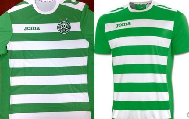 Montagem Guarani uniforme Joma