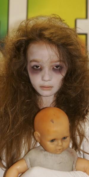 Anna Livya Padilha, a menina fantasma do SBT (Foto: Roberto Nemanis/ SBT)