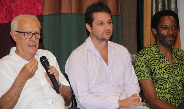 Ney Latorraca, Marcelo Serrado e Flávio Bauraqui (Foto: Amanda Freitas/ Globo)