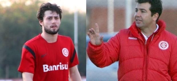 João Paulo e Enderson Moreira no Internacional (Foto: Montagem / Globoesporte.com)