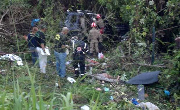 Acidente aconteceu na BR-304, em Macaíba (Foto: Ediana Miralha/G1)