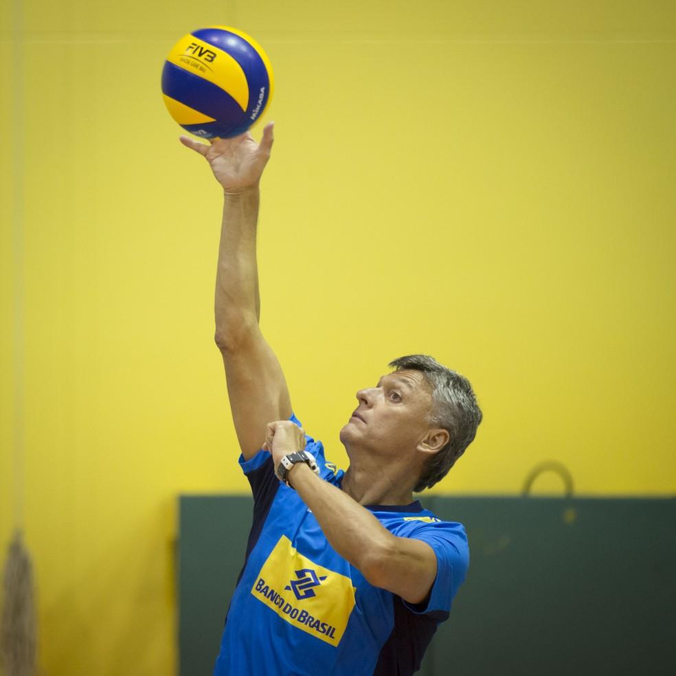 Renan Dal Zotto estreia em frente à seleção (Foto: Marcio Rodrigues/MPIX/CBV)