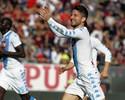 Mertens faz hat-trick, Hamsik brilha, e Napoli goleia o Cagliari fora de casa