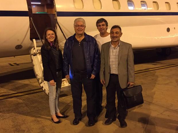 Senadores Vanessa Grazziotin, Roberto Requião, Lindbergh Farias e Telmário da Mota embarcaram na quarta-feira para a Venezuela (Foto: Divulgação)