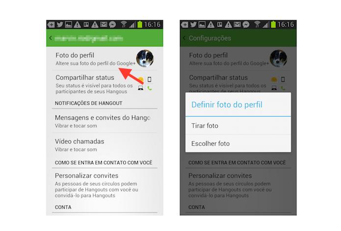 Alterando a foto de perfil do Hangouts no Android (Foto: Reprodução/Marvin Costa)