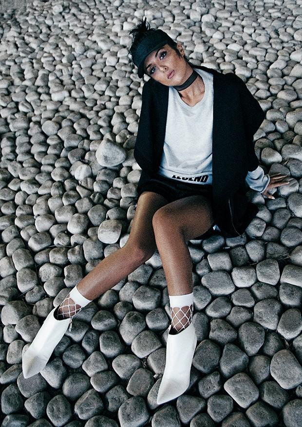A atriz iniciou a  carreira de modelo  aos 3 anos  (Foto:  )