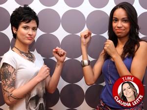 Bella e Priscylla Batalham no The Voice Brasil (Foto: The Voice Brasil/TV Globo)