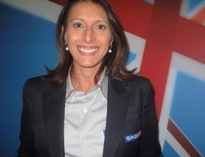 Helen comentarista de basqueta da SporTV (Foto: Paola loewe)