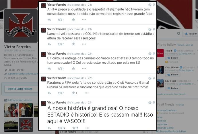 vasco argentina twitter (Foto: Reprodução)