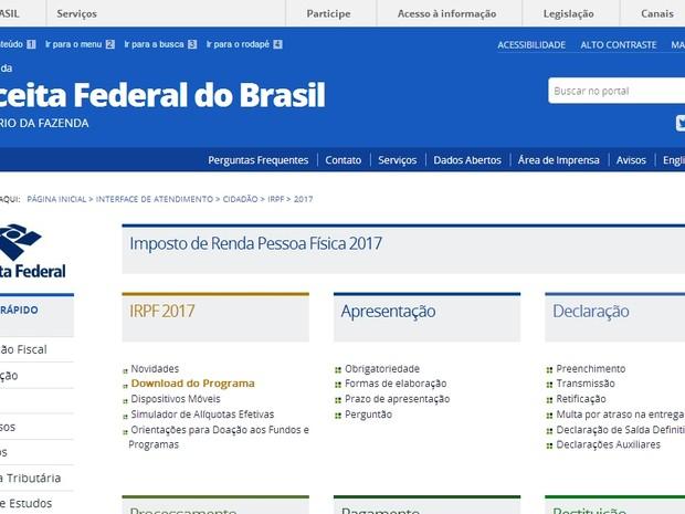 44.878 contribuintes da Paraíba já declararam o Imposto de Renda neste ano. (Foto: Reprodução/Ministério da Fazenda)
