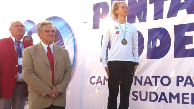 Yane Marques é campeã Pan/Sul-Americana de Pentatlo (Foto: Divulgação / CDE)
