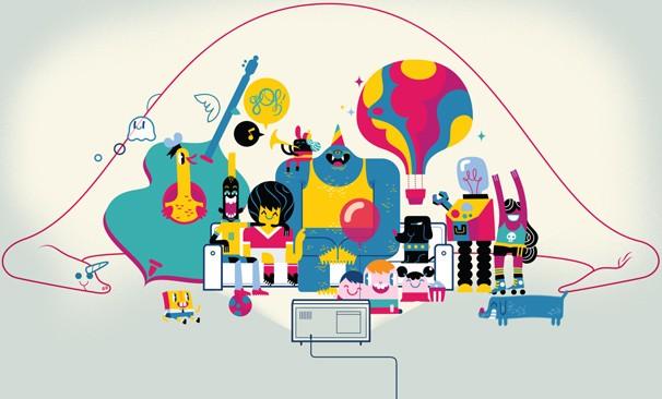 Imagem do filme animado, com bichos, monstros, dinossauros e brinquedos, convidando você e sua família a curtir o Dia das Crianças na Globo (Foto: Globo)