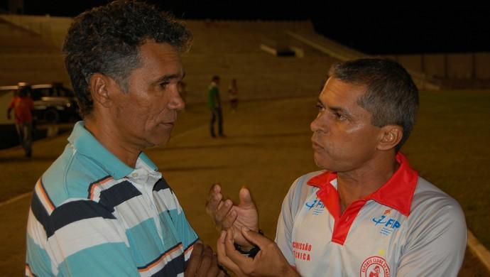 Marcos Nascimento, técnico do Esporte de Patos (Foto: Silas Batista / GloboEsporte.com)