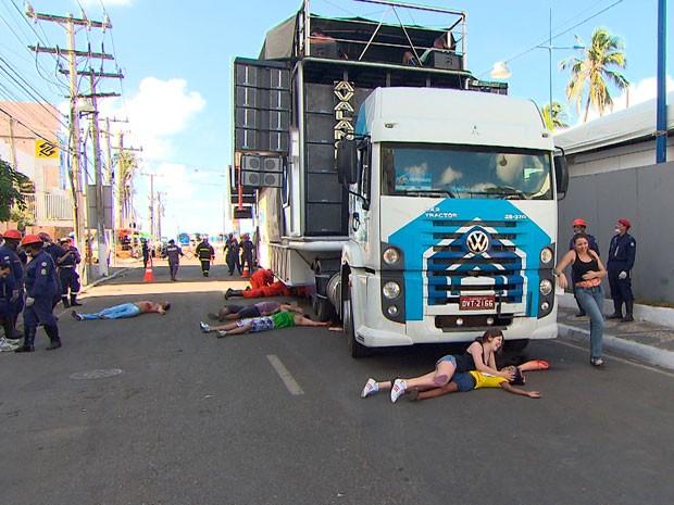 Simulação (Foto: Reprodução/TV Bahia)