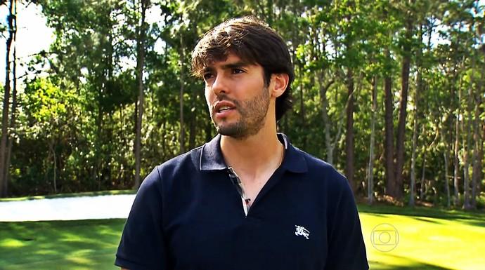 Kaká conversou com o Esporte Espetacular (Foto: Reprodução TV Globo)