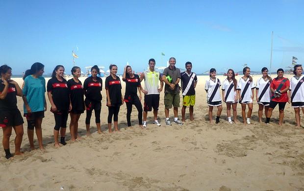 Flamengo Vasco futebol de areia feminino (Foto: André Garcia)