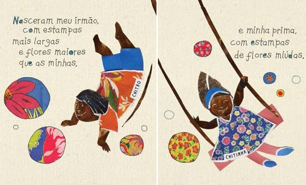 """Ilustrao de Anna Gbel com texto do estilista Ronaldo Fraga no livro """"Uma festa de cores - Memrias de um tecido brasileiro"""" (Foto: Divulgao)"""