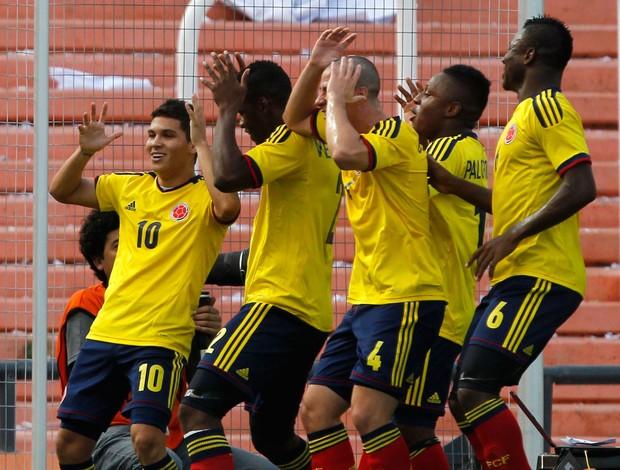 Jogadores colômbia gol Sub-20 (Foto: Reuters)