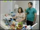 Com atrofia, bebê de 11 meses mora em hospital de Santo Ângelo, RS