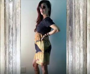 Pitty posa e mostra a barriguinha de grávida (Foto: Arquivo pessoal/ TV Globo)