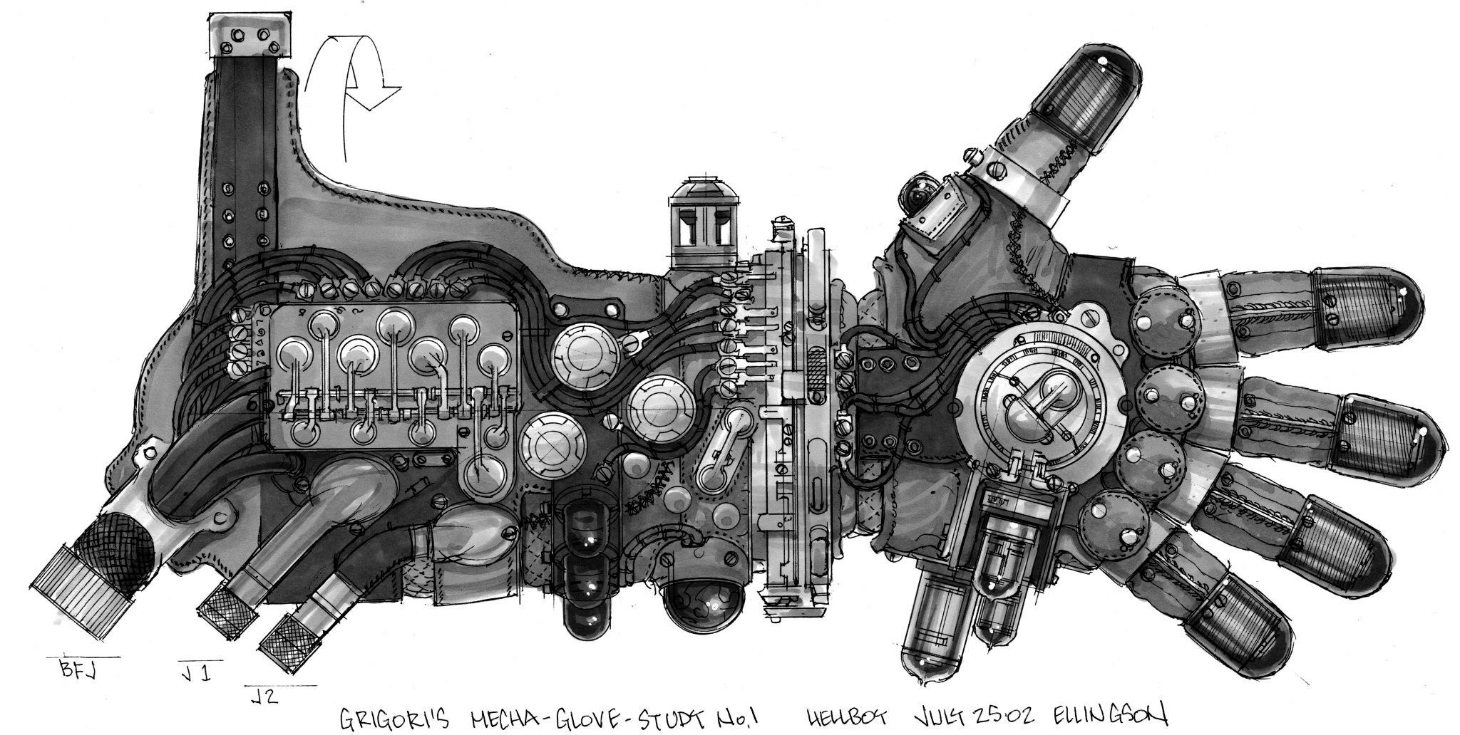 conceito do braço do hellboy (Foto: tyruben)