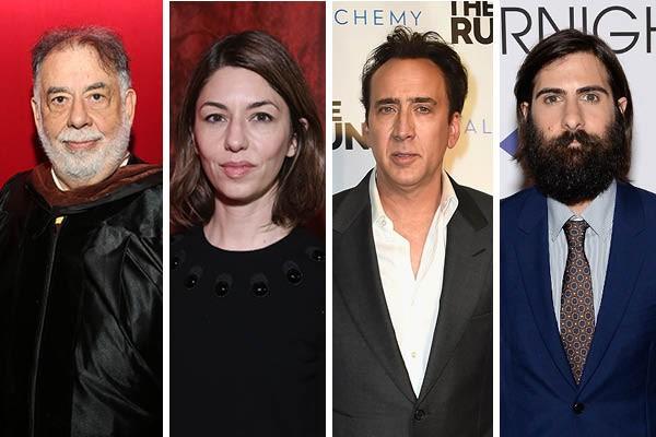 Francis Ford Coppola, Sofia Coppola, Nicolas Cage e Jason Schwartzman (Foto: Getty Images)