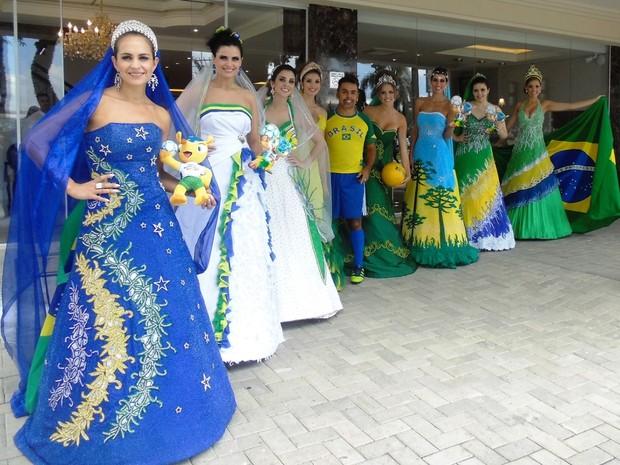 As criações de Edson Eddel inspiradas na Copa do Mundo (Foto: Divulgação)