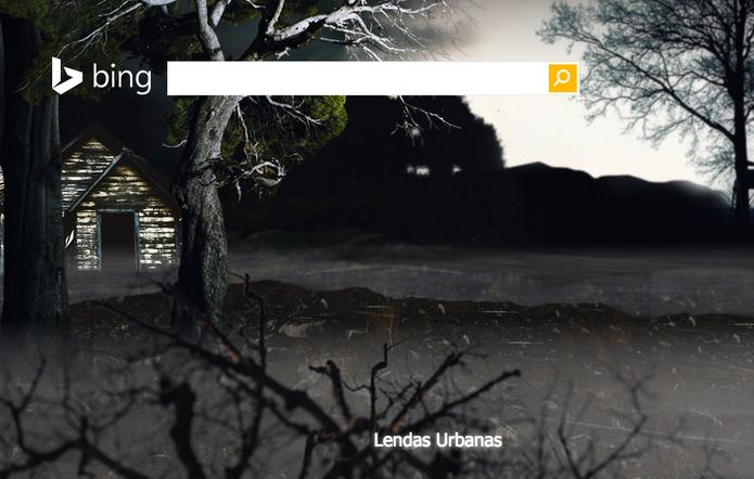 Bing relembra lendas urbanas durante o Halloween (Foto: Reprodução/Bing)