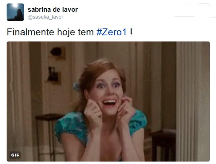 Internauta comenta a volta do 'Zero1' nas redes (Foto: Reprodução da internet)