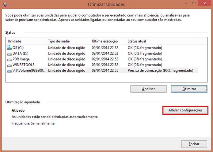 Avance até as configurações avançadas para programar otimização automática (Foto: Reprodução/Paulo Alves)
