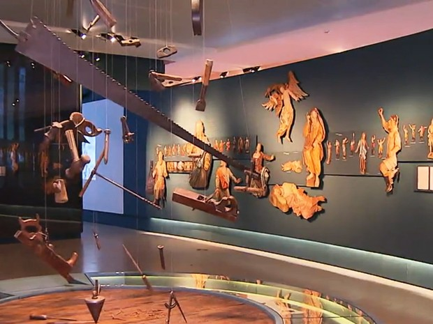 Obras do Museu de Congonhas (Foto: Reprodução/TV Globo)
