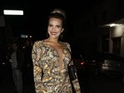 Geisy Arruda fala sobre vestido com estampa de cobra: 'Sabia do risco'