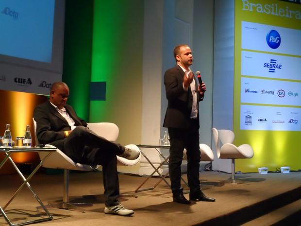 Renato Meirelles, presidente do Data Popular, e Celso Athayde, fundador da Cufa (Foto: Lilian Quaino/G1)