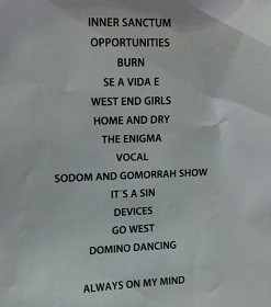 Setlist Pet Shop Boys (Foto: Multishow / Divulgao)