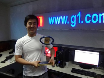 "Hugo Yamaguchi, vencedor do prêmio ""Atleta do Ano"" (Foto: Ingo Muller / G1 Pará)"
