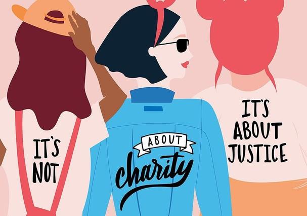 """""""Não é sobre caridade, é sobre justiça""""  (Foto: Reprodução)"""