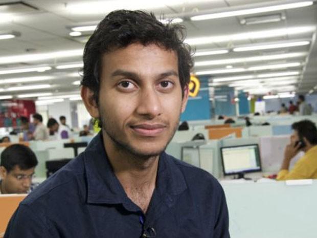 Ritesh Agarwal é fundador e CEO da Oyo Rooms,que fatura R$ 13,5 milhões por ano  (Foto: BBC)