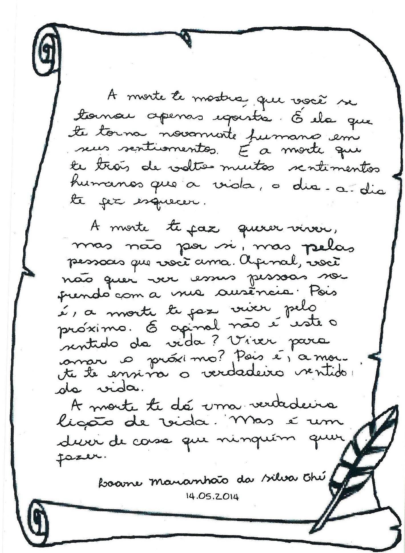 G1 Escrivã Escreveu Poema Sobre Morte E Mãe Diz Que Foi Uma