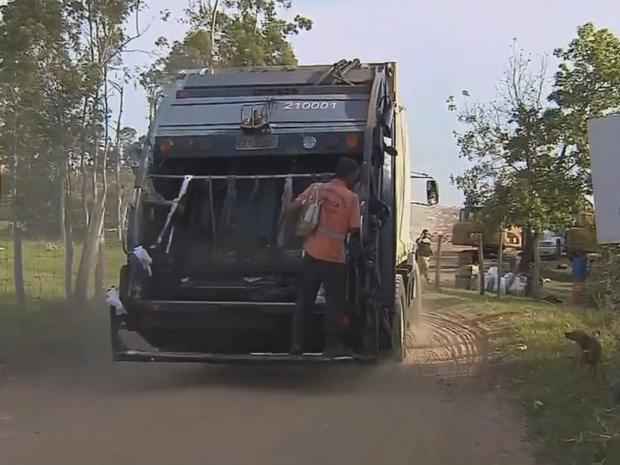 Prefeitura proibiu descarte em área sem licença da Cetesb (Foto: Reprodução/TV TEM)