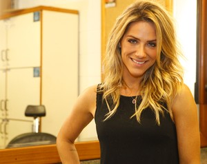 Giovanna Ewbank conta segredos do cabelo desejado pelas mulheres (Foto: Domingão do Faustão / TV Globo)
