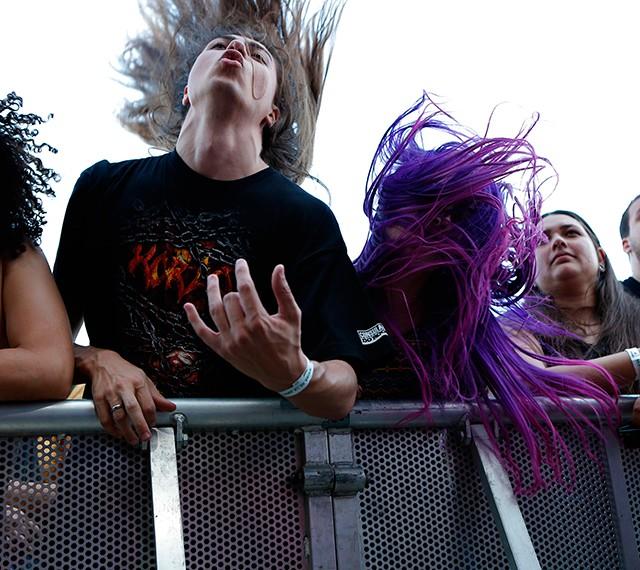 O show do Noturnall animou os fãs que chegaram cedo à Cidade do Rock  (Foto: Fábio Rocha/Gshow)